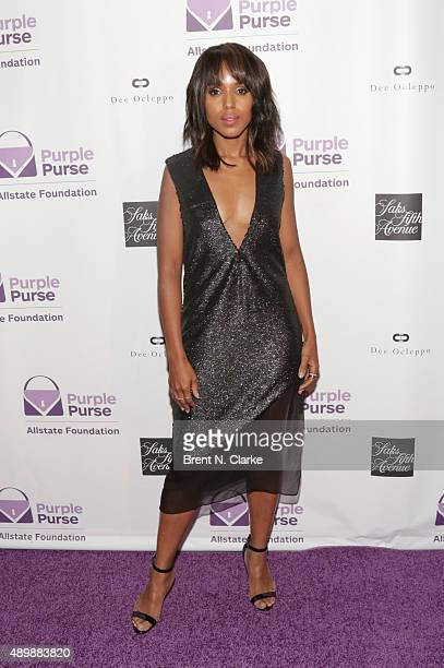 Actress Kerry Washington attends the Limited Edition Allstate Foundation Purple Purse Launch event held at The Plaza Hotel on September 24 2015 in...