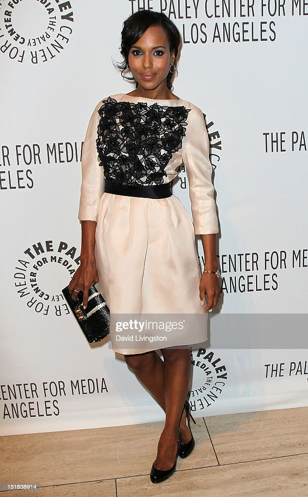 Actress <a gi-track='captionPersonalityLinkClicked' href=/galleries/search?phrase=Kerry+Washington&family=editorial&specificpeople=201534 ng-click='$event.stopPropagation()'>Kerry Washington</a> attends The Paley Center for Media's 2012 PaleyFest: Fall TV Preview Party for ABC at The Paley Center for Media on September 11, 2012 in Beverly Hills, California.