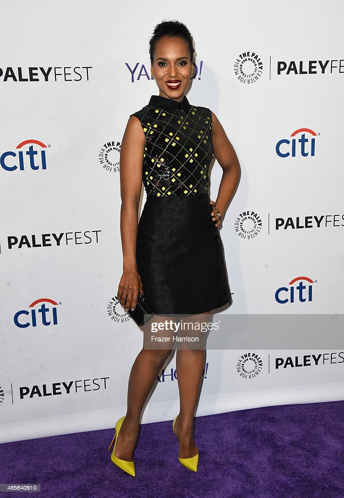 Actress <a gi-track='captionPersonalityLinkClicked' href=/galleries/search?phrase=Kerry+Washington&family=editorial&specificpeople=201534 ng-click='$event.stopPropagation()'>Kerry Washington</a> attends The Paley Center For Media's 32nd Annual PALEYFEST LA - 'Scandal' at Dolby Theatre on March 8, 2015 in Hollywood, California.
