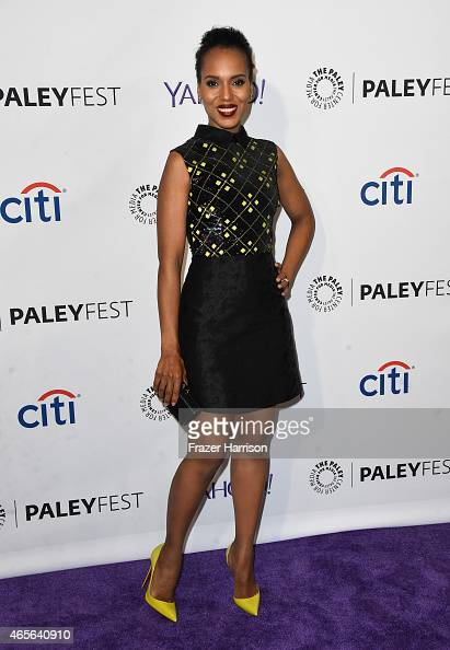 Actress Kerry Washington attends The Paley Center For Media's 32nd Annual PALEYFEST LA 'Scandal' at Dolby Theatre on March 8 2015 in Hollywood...
