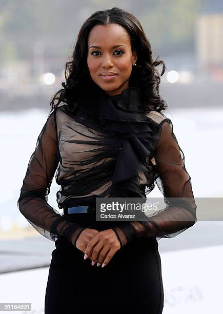 Actress Kerry Washington attends the photocall for 'Mother and Child' during the 57th San Sebastian International Film Festival on September 26 2009...