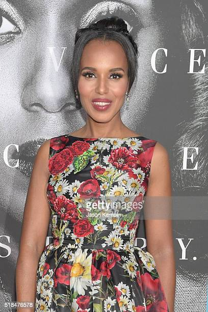 Actress Kerry Washington attends the premiere of HBO Films' 'Confirmation' at Paramount Theater on the Paramount Studios lot on March 31 2016 in...