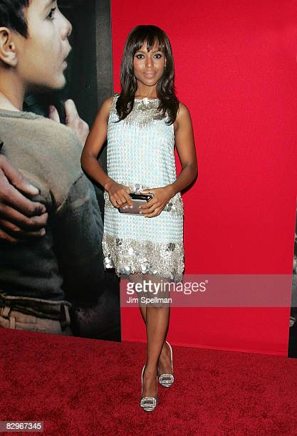 Actress Kerry Washington attends the premiere of 'Miracle at St Anna' at Ziegfeld Theatre on September 22 2008 in New York City