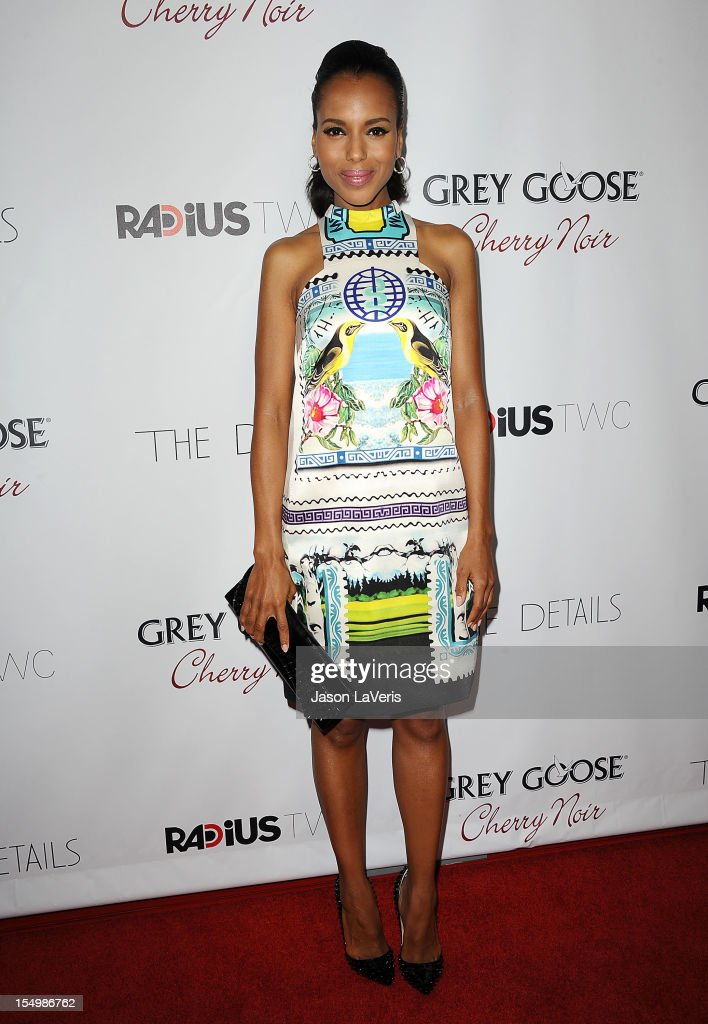 Actress <a gi-track='captionPersonalityLinkClicked' href=/galleries/search?phrase=Kerry+Washington&family=editorial&specificpeople=201534 ng-click='$event.stopPropagation()'>Kerry Washington</a> attends the premiere of 'The Details' at ArcLight Cinemas on October 29, 2012 in Hollywood, California.