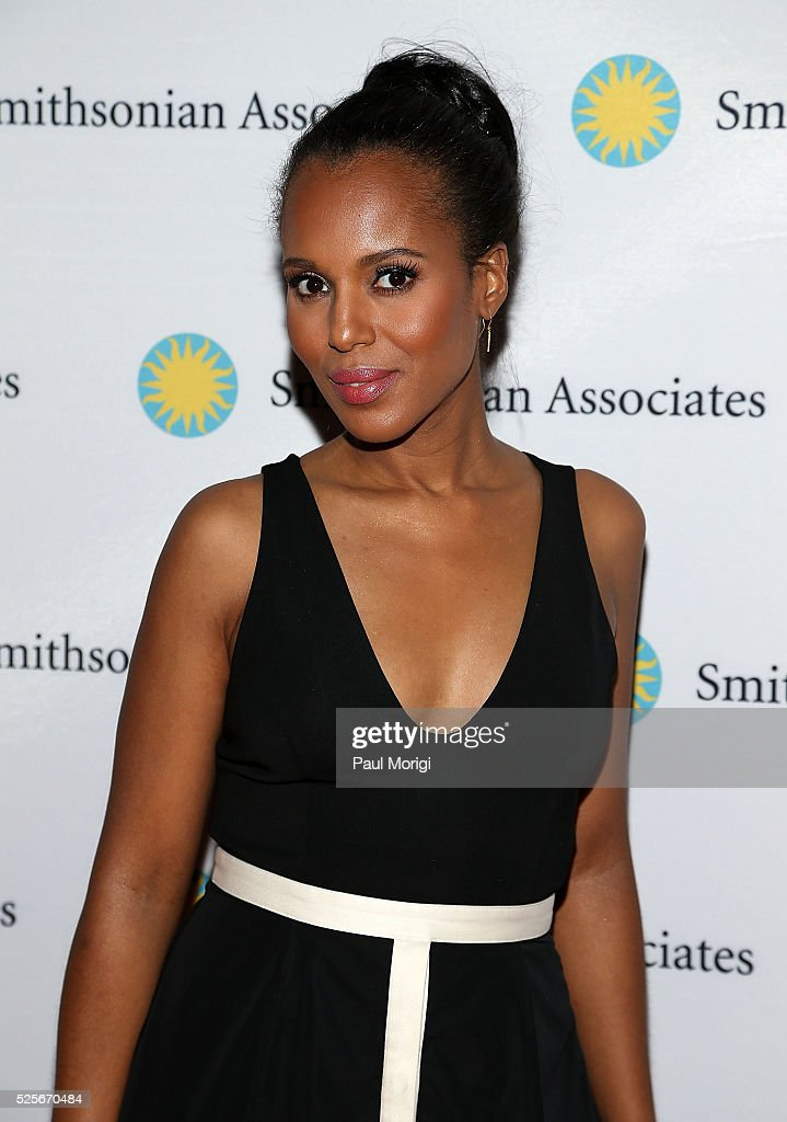 Actress Kerry Washington attends the Smithsonian Associates's 'Scandal-ous!' discussion with the cast and executive producers of ABC's 'Scandal' at the University of District of Columbia Theater of the Arts on April 28, 2016 in Washington, DC.