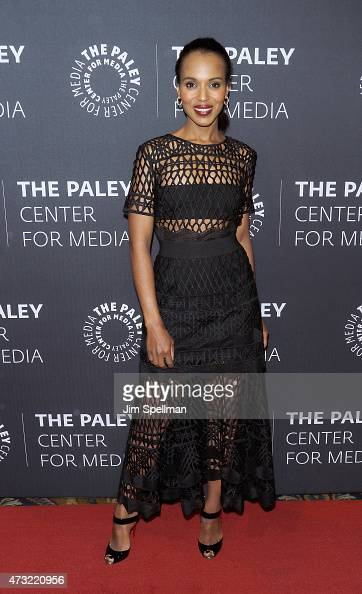Actress Kerry Washington attends the The Paley Center For Media hosts a tribute to AfricanAmerican achievements in television at Cipriani Wall Street...