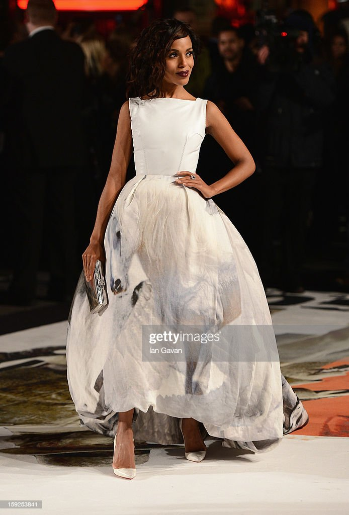 Actress Kerry Washington attends the UK Premiere of 'Django Unchained' at the Empire Leicester Square on January 10, 2013 in London, England.