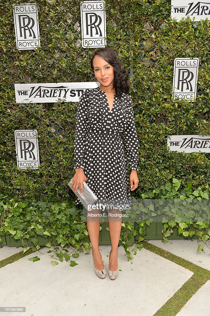 Actress <a gi-track='captionPersonalityLinkClicked' href=/galleries/search?phrase=Kerry+Washington&family=editorial&specificpeople=201534 ng-click='$event.stopPropagation()'>Kerry Washington</a> attends The Variety Studio: Awards Edition held at a private residence on November 28, 2012 in Los Angeles, California.