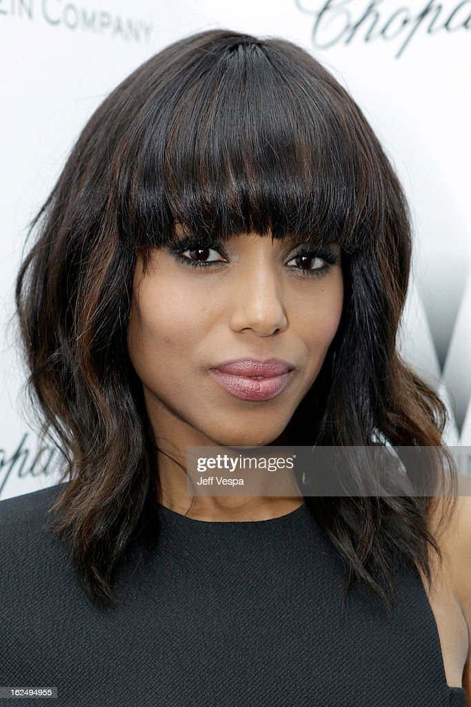 Actress Kerry Washington attends The Weinstein Company Academy Award Party hosted by Chopard at Soho House on February 23, 2013 in West Hollywood, California.