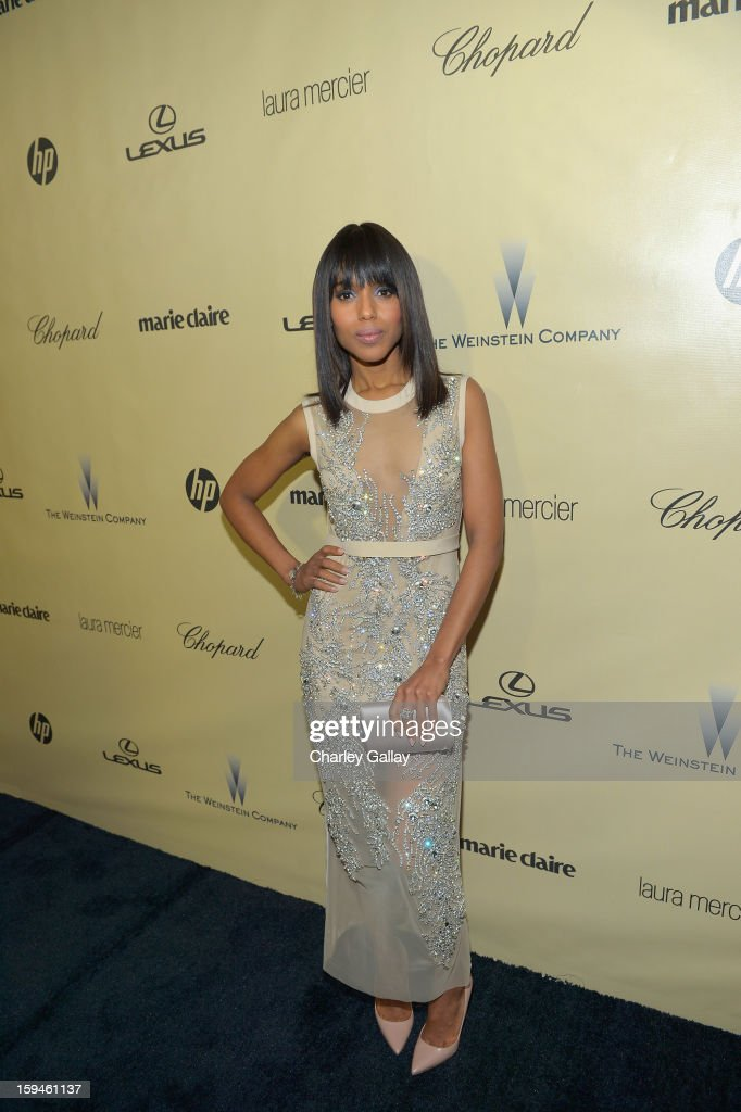 Actress <a gi-track='captionPersonalityLinkClicked' href=/galleries/search?phrase=Kerry+Washington&family=editorial&specificpeople=201534 ng-click='$event.stopPropagation()'>Kerry Washington</a> attends The Weinstein Company's 2013 Golden Globe Awards After Party presented by Chopard held at The Old Trader Vic's at The Beverly Hilton Hotel on January 13, 2013 in Beverly Hills, California.