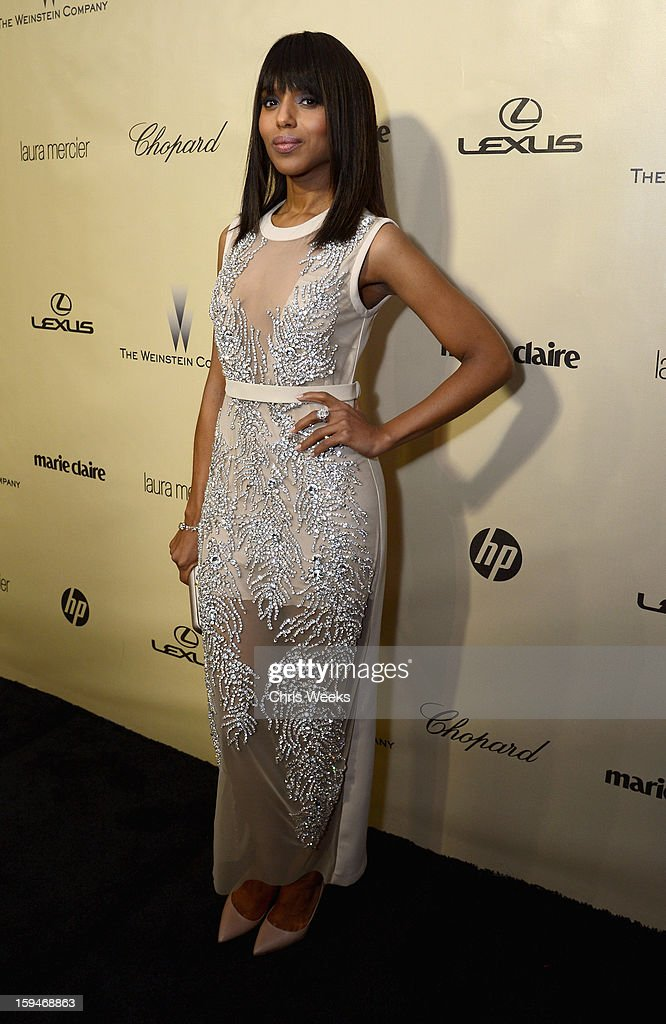 Actress <a gi-track='captionPersonalityLinkClicked' href=/galleries/search?phrase=Kerry+Washington&family=editorial&specificpeople=201534 ng-click='$event.stopPropagation()'>Kerry Washington</a> attends The Weinstein Company's 2013 Golden Globe Awards after party presented by Chopard, HP, Laura Mercier, Lexus, Marie Claire, and Yucaipa Films held at The Old Trader Vic's at The Beverly Hilton Hotel on January 13, 2013 in Beverly Hills, California.