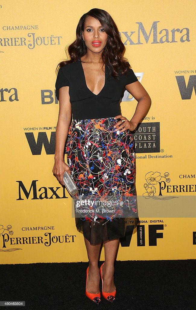 Actress Kerry Washington attends the Women In Film Los Angeles Presents the 2014 Crystal Lucy Awards at the Hyatt Regency Century Plaza Hotel on June...