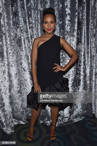 Actress Kerry Washington attends the Yahoo News/ABC News White House Correspondents' Dinner PreParty at Washington Hilton on April 30 2016 in...
