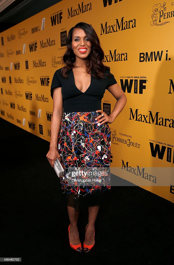 Actress Kerry Washington attends Women In Film 2014 Crystal + Lucy Awards presented by MaxMara, BMW, Perrier-Jouet and South Coast Plaza held at the Hyatt Regency Century Plaza on June 11, 2014 in Los Angeles, California.