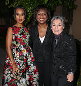 Actress Kerry Washington attorney Anita Hill and US Senator Barbara Boxer attend the Los Angeles premiere of HBO Films' 'Confirmation' at Paramount...