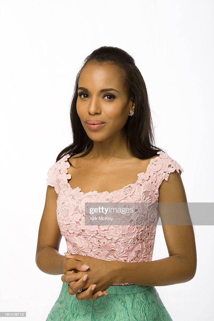 Actress <a gi-track='captionPersonalityLinkClicked' href=/galleries/search?phrase=Kerry+Washington&family=editorial&specificpeople=201534 ng-click='$event.stopPropagation()'>Kerry Washington</a> is photographed at the NAACP Image Awards for Los Angeles Times on February 1, 2013 in Los Angeles, California. PUBLISHED IMAGE.