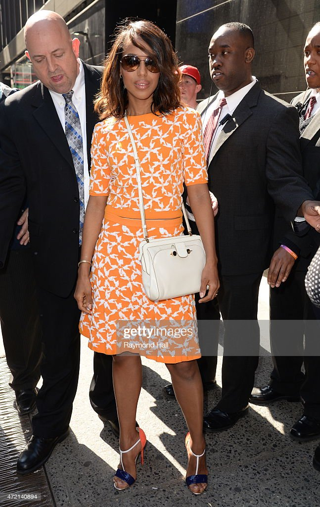 Actress Kerry Washington is seen at 'Good Morning America'on May 4 2015 in New York City