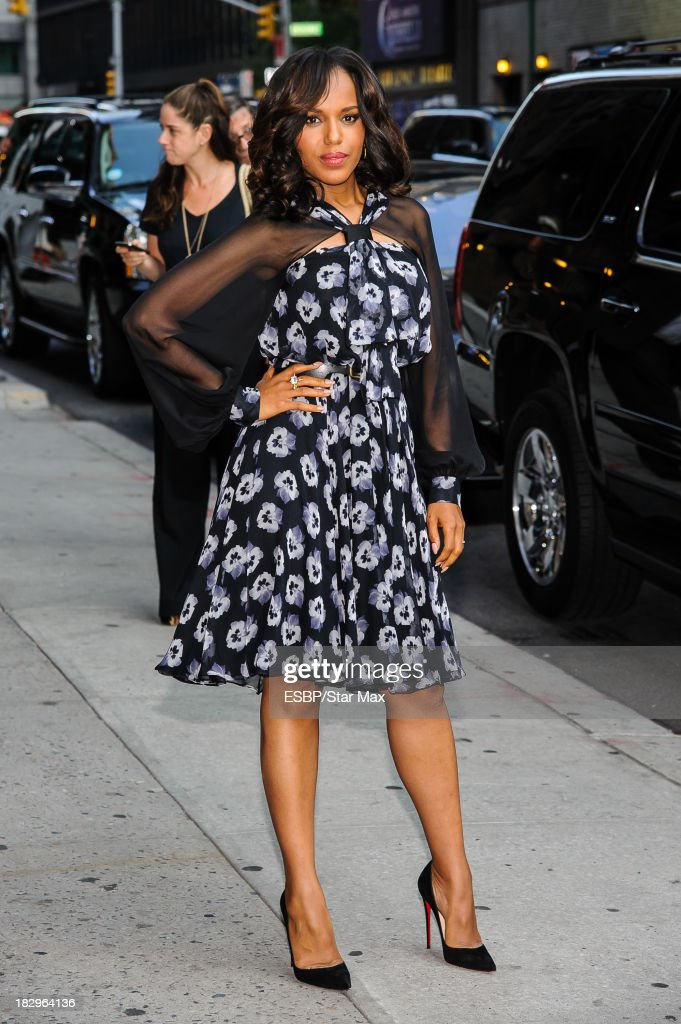 Actress <a gi-track='captionPersonalityLinkClicked' href=/galleries/search?phrase=Kerry+Washington&family=editorial&specificpeople=201534 ng-click='$event.stopPropagation()'>Kerry Washington</a> is seen on October 2, 2013 in New York City.