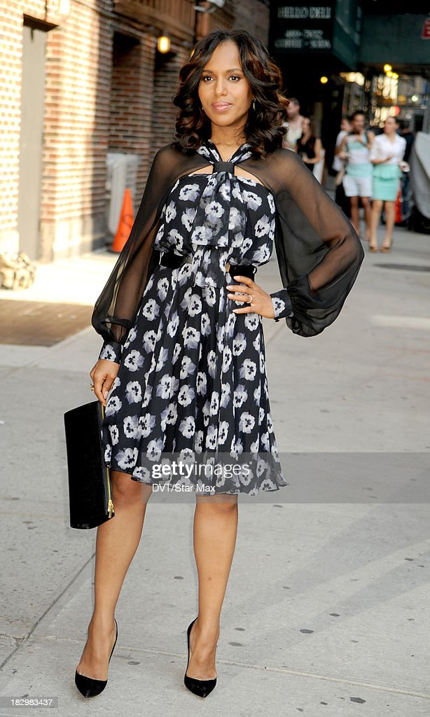 Actress Kerry Washington is seen on October 2, 2013 in New York City.