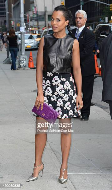 Actress Kerry Washington is seen on September 25 2015 in New York City