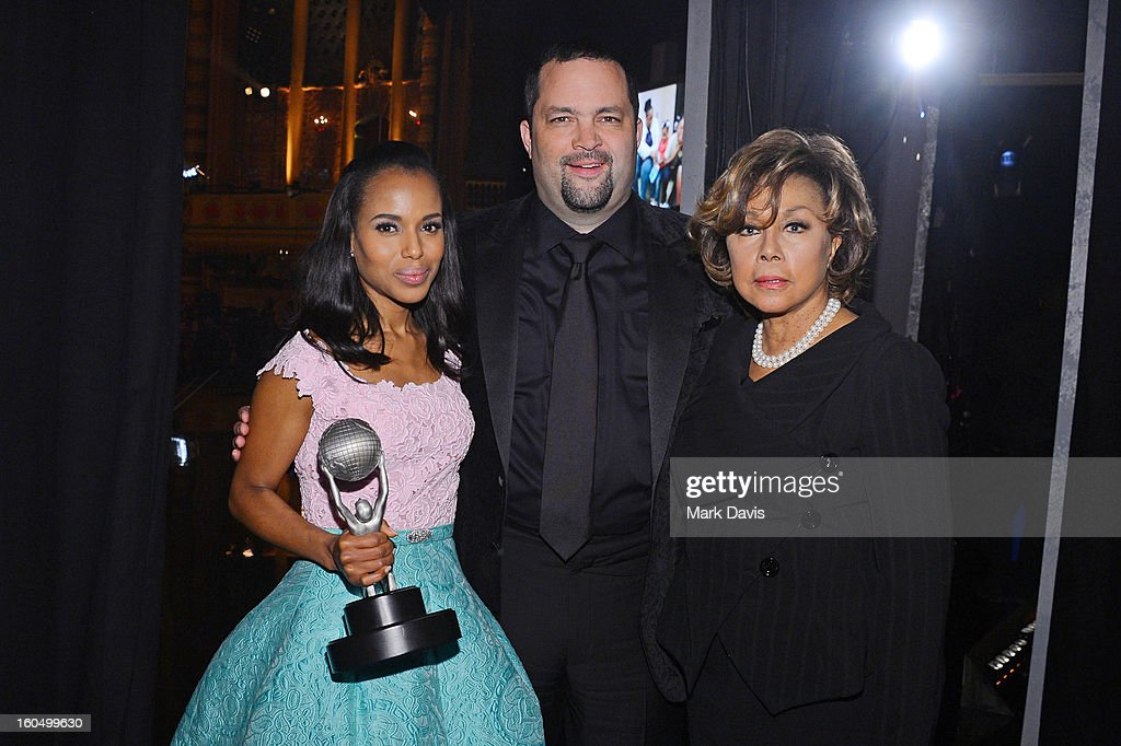 Actress Kerry Washington, President and CEO NAACP Benjamin Jealous and actress Diahann Carroll attend the 44th NAACP Image Awards at The Shrine Auditorium on February 1, 2013 in Los Angeles, California.