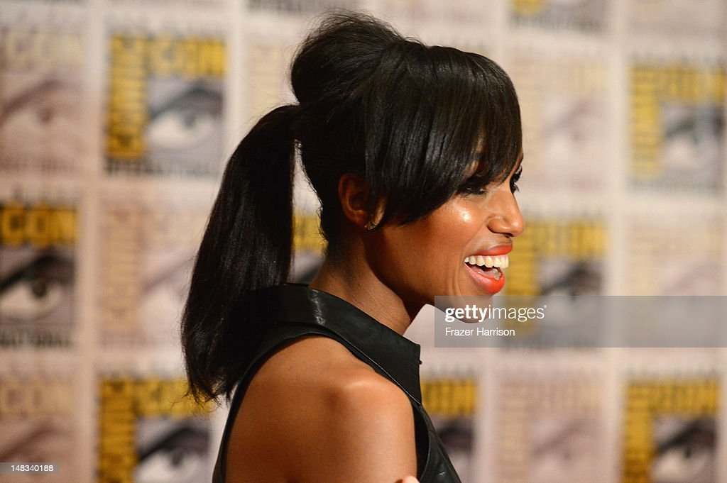 Actress Kerry Washington speaks at 'DJango Unchained' Press Line during Comic-Con International 2012 at Hilton San Diego Bayfront Hotel on July 14, 2012 in San Diego, California.