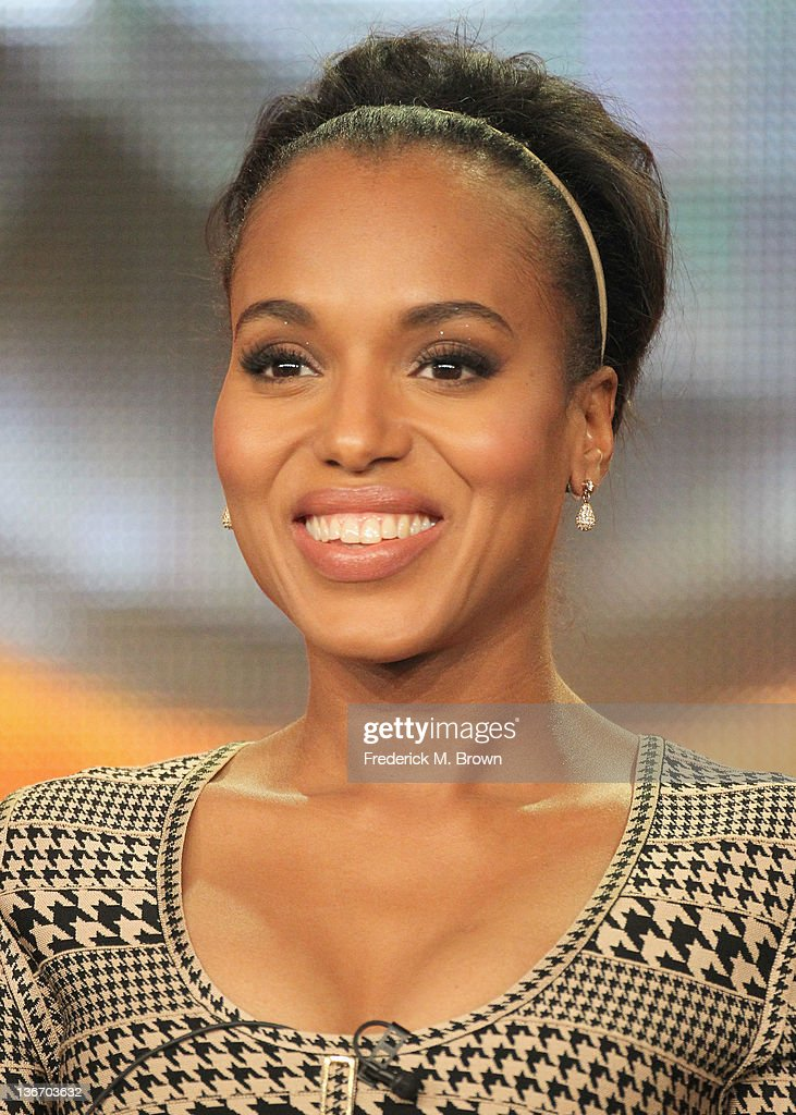 Actress <a gi-track='captionPersonalityLinkClicked' href=/galleries/search?phrase=Kerry+Washington&family=editorial&specificpeople=201534 ng-click='$event.stopPropagation()'>Kerry Washington</a> speaks during the 'Scandal' panel during the ABC portion of the 2012 Winter TCA Tour held at The Langham Huntington Hotel and Spa on January 10, 2012 in Pasadena, California.