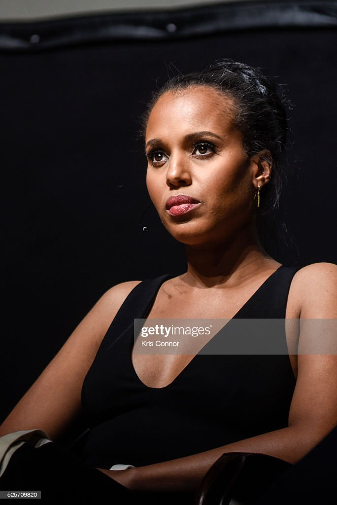 Actress <a gi-track='captionPersonalityLinkClicked' href=/galleries/search?phrase=Kerry+Washington&family=editorial&specificpeople=201534 ng-click='$event.stopPropagation()'>Kerry Washington</a> speaks during the 'Scandal-ous!' event hosted by the Smithsonian Associates with Shonda Rhimes and the cast of ABC's Scandals at the University of District of Columbia Theater of the Arts on April 28, 2016 in Washington, DC.
