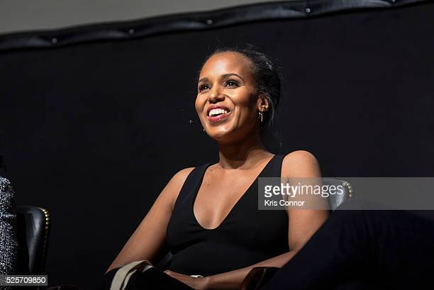 Actress Kerry Washington speaks during the 'Scandalous' event hosted by the Smithsonian Associates with Shonda Rhimes and the cast of ABC's Scandals...