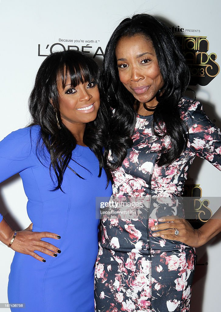 Actress <a gi-track='captionPersonalityLinkClicked' href=/galleries/search?phrase=Keshia+Knight+Pulliam&family=editorial&specificpeople=1284379 ng-click='$event.stopPropagation()'>Keshia Knight Pulliam</a> and Kita Williams attend the Soul Train Awards 2013 at the Orleans Arena on November 8, 2013 in Las Vegas, Nevada.
