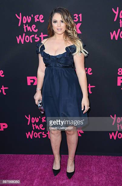 Actress Kether Donohue attends the premiere of FXX's 'You're the Worst' Season 3 on August 28 2016 in Los Angeles California