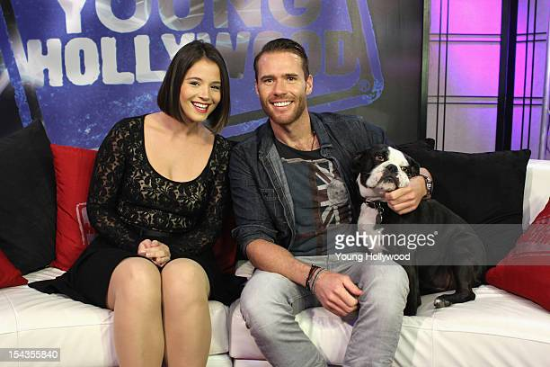 Actress Kether Donohue visits with host Oliver Trevena at the Young Hollywood Studio on October 18 2012 in Los Angeles California