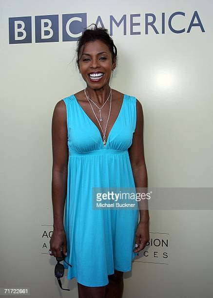 Actress Khandi Alexander arrives at the BAFTA/LAAcademy of Television Arts and Sciences Tea Party at the Century Hyatt on August 26 2006 in Century...