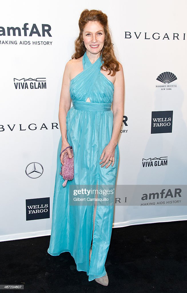 Actress Khrystyne Haje attends the 2014 amfAR New York Gala at Cipriani Wall Street on February 5, 2014 in New York City.