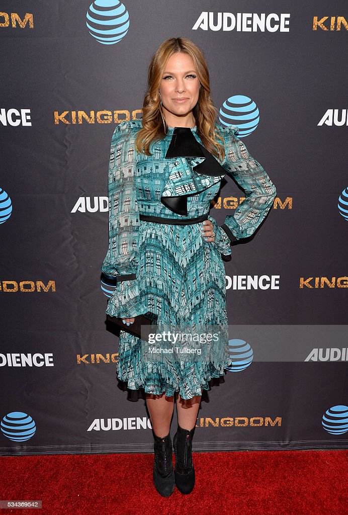 Actress Kiele Sanchez attends the premiere screening for DirecTV's 'Kingdom' at Harmony Gold Theater on May 25 2016 in Los Angeles California