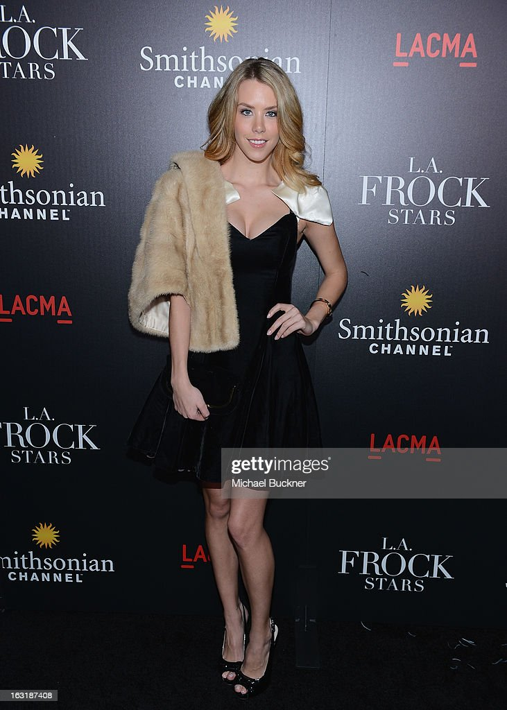 Actress Kier Mellour arrives at the premiere for the Smithsonian Channel's new original series 'L.A. Frock Stars' at LACMA on March 5, 2013 in Los Angeles, California.