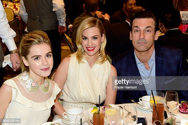 Actress Kiernan Shipka actress January Jones and actor Jon Hamm attend the 16th Annual AFI Awards at Four Seasons Hotel Los Angeles at Beverly Hills...
