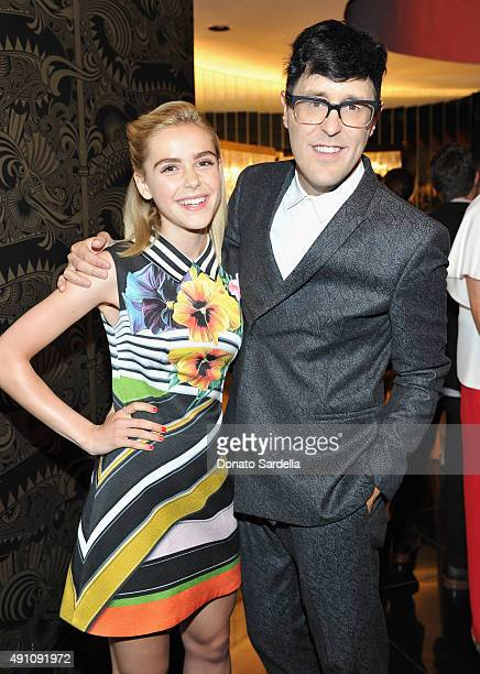 Actress Kiernan Shipka and Andrew Bevan Teen Vogue's Style Director attend Teen Vogue Celebrates the 13th Annual Young Hollywood Issue with Emporio...