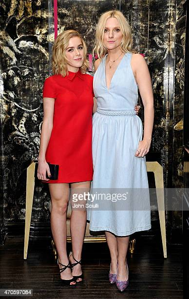 Actress Kiernan Shipka and Laura Brown attend harper by Harper's BAZAAR at Violet Grey with Rosie HuntingtonWhiteley on April 21 2015 in Los Angeles...