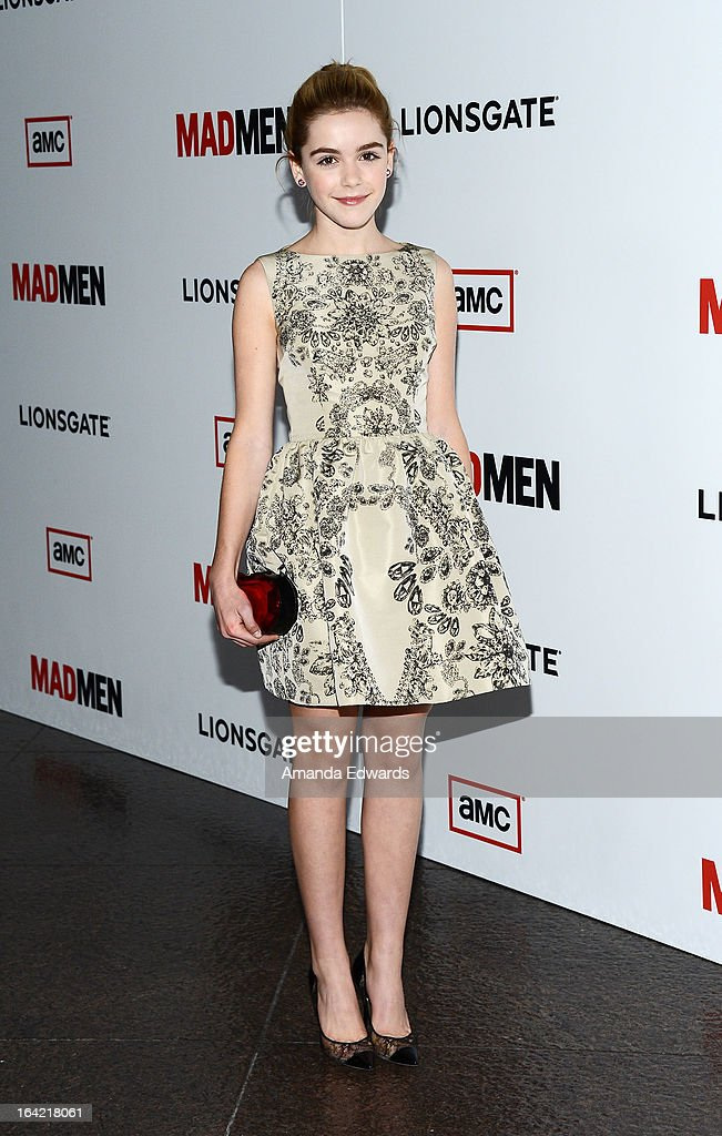 Actress Kiernan Shipka arrives at AMC's 'Mad Men' Season 6 Premiere at the DGA Theater on March 20, 2013 in Los Angeles, California.