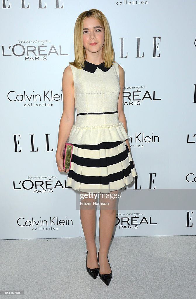 Actress Kiernan Shipka arrives at ELLE's 19th Annual Women In Hollywood Celebration at the Four Seasons Hotel on October 15, 2012 in Beverly Hills, California.