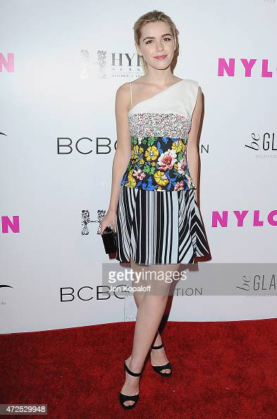Actress Kiernan Shipka arrives at NYLON Magazine And BCBGeneration Annual May Young Hollywood Issue Party Hosted By May Cover Star Dakota Fanning at...