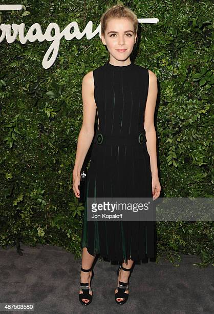 Actress Kiernan Shipka arrives at Salvatore Ferragamo 100th Year Celebration In Hollywood Rodeo Drive Flagship Store Opening at Salvatore Ferragamo...