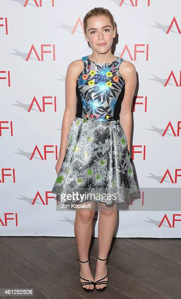 Actress Kiernan Shipka arrives at the 15th Annual AFI Awards at Four Seasons Hotel Los Angeles at Beverly Hills on January 9 2015 in Beverly Hills...