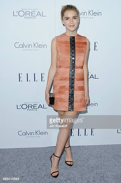 Actress Kiernan Shipka arrives at the 22nd Annual ELLE Women In Hollywood Awards at Four Seasons Hotel Los Angeles at Beverly Hills on October 19...