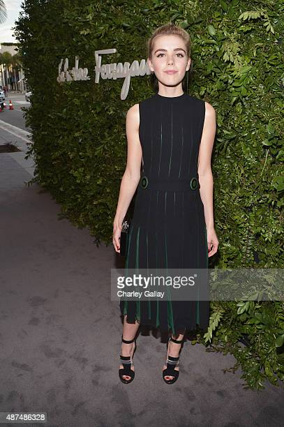 Actress Kiernan Shipka attends as Ferragamo Celebrates 100 Years in Hollywood at the newly unveiled Ferragamo boutique on September 9 2015 in Beverly...