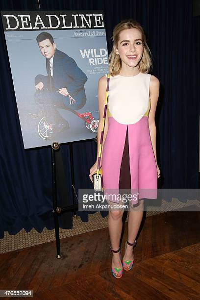 Actress Kiernan Shipka attends Deadline Hollywood's 2015 Emmy party at The Spare Room on June 9 2015 in Hollywood California