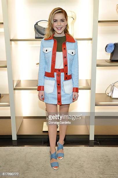 Actress Kiernan Shipka attends Fendi and Vogue Celebrate Fendi Beverly Hills at Fendi on March 24 2016 in Beverly Hills California