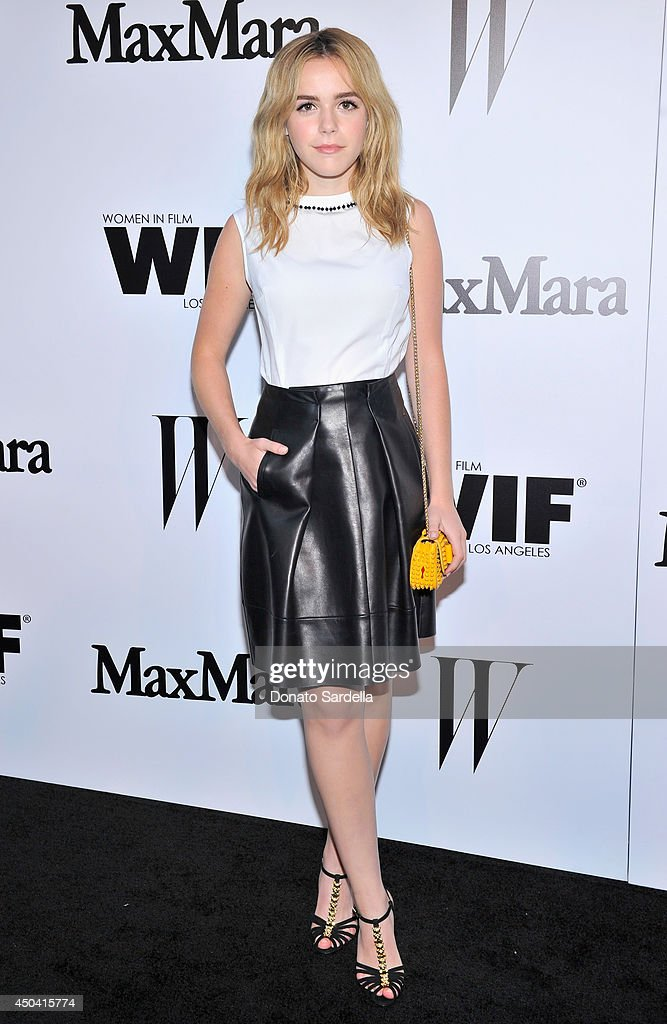 Actress Kiernan Shipka attends MaxMara And W Magazine Cocktail Party To Honor The Women In Film MaxMara Face Of The Future, Rose Byrne at Chateau Marmont on June 10, 2014 in Los Angeles, California.