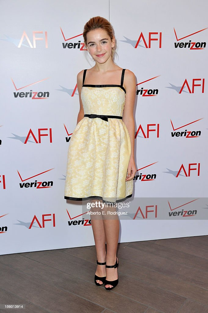 Actress Kiernan Shipka attends the 13th Annual AFI Awards at Four Seasons Los Angeles at Beverly Hills on January 11, 2013 in Beverly Hills, California.